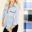 BI521 Superbe chemise, chemisier, curseurs décorat