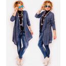 R14 Long and Loose Cardigan, Jacket, Trendy Melang