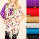 wholesale Scarves & Shawls: C17292 Elegant Scarf, Shawl, Stylish Flowers