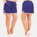 Großhandel Shorts: C17686 Frauen Sommer Shorts, Loose Fit, Punkte