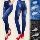 4047 Abnehmen  Leggings wie Jeans, Bambusfaser