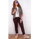 Großhandel Hosen: B16678 Klassische Damen Jeans, Brownie Hose
