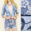 wholesale Scarves & Shawls: 4115 STYLE JACKET,  The outfit FLOWERS, coton