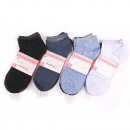 wholesale Fashion & Apparel: Short Women Socks, Glossy, 35-42 5366