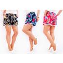 C17492 Women Summer Shorts, Loose Fit, Tropics