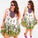 C17708 Frauen Plus Size Kleid, Hippie Style