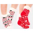 4361 Warm Socks, ABS Slippers, Faux Fur, Rendeer