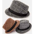 wholesale Belts: A1260 Mens Checkered Hat, Decorative Strap