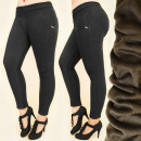 Großhandel Hosen: FL595 Stylish Pants, Warming Fleece, Große Größen