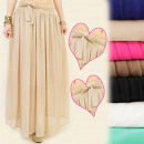 wholesale Skirts: A1914 maxi skirt, bow, wave FIT