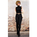 wholesale Fashion & Apparel: 4232 Women Pants,  Bamboo, Gold Buckle and Lace