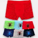 wholesale Childrens & Baby Clothing: 4776 Boys Boxer Shorts, Underwear, Spider, 110-152