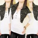 wholesale Coats & Jackets: C11157 CHARMING BOLER, VEST, FASHION GRILLE