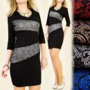 C1183 glamorous DRESS, GLITTER INSERTS, ZEBRA