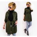 Großhandel Hemden & Blusen: BI785 ,Oversize-Longshirt Wdzianko, Khaki