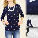 Großhandel Hemden & Blusen: C1196 LOSE BLUSE, TUNIKA, BLUTBLUMEN