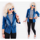 BI701 Frühling Damen Jacke Jeans, mit Sliders