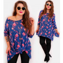 4431 Slimming Tunic Plus Size, Pattern Lilies