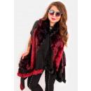 wholesale Coats & Jackets: EM12 Fur jacket, waistcoat, poncho, burgundy