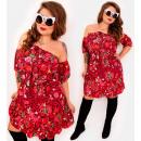 Großhandel Kleider: EM49 Spanisches Kleid mit Schleife, Tupfen, ...