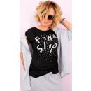 wholesale Fashion & Apparel: 4568 Loose Women's Shirt, Silver Pink Slip
