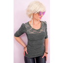 wholesale Shirts & Blouses: BB199 Feminine Blouse With A Gold Chain, Lace