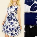 Großhandel Kinder- und Babybekleidung: C17106  Mädchen-Kleid, DELICATE ROSES