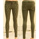 Großhandel Hosen: Damenhose, 34-42, mit Spitze, B16879