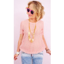 wholesale Shirts & Blouses: A813 Women blouse with Knotted Fabric, Golden Zips