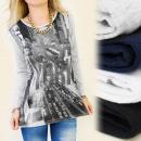 ingrosso Camicie: K262 superiore del  cotone, la camicetta: ARGENTO N