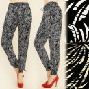 ingrosso Pantaloni: C1711 PANTALONI  LUNGHE, HAREMS, GRANDI FIORI, coto
