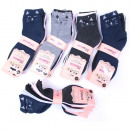 Großhandel Fashion & Accessoires: Damensocken, Baumwolle, Model Kitten, 35-41, 51