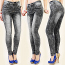 wholesale Jeanswear: B16396 TRENDY  JEANS, marbling, GRAPHITE JEANS