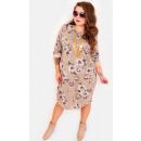 EM59 Autumn Plus Size Dress, Floral Pattern BE