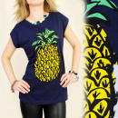 Großhandel Fashion & Accessoires: K296  Baumwollbluse, TOP FRUIT PINEAPPLE