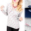 Großhandel Hemden & Blusen: C11435 Lose Bluse, gebundener Bogen, Schmetterling