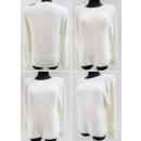 K07 Hairy Warmer Damen-Pullover, Gürtel und Perlen