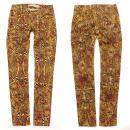 Damen Jeans Hosen, XS - XL, Aztekenmuster, B16863