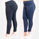 Großhandel Hosen: C17627 Elegante Plus Size-Hose mit goldener Verzie