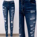Großhandel Hosen: B16837 Damen Jeans Hose mit Löchern
