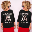 grossiste Pulls et Sweats: Sweat-shirt femme N077 Lovely Cotton, Courage