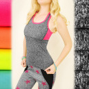 FL499 Sporty Top, Boxer for Fitness, Neon