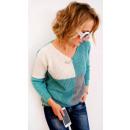 mayorista Ropa / Zapatos y Accesorios: R08 Classic Women Sweater, Túnica, Cuadrados Patró