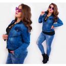 Großhandel Jeanswear: BI715 Spring Jeans Jacke, Damen Ramones