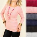 wholesale Shirts & Blouses: C11272 Classic Blouse, Autumn Knitwear, Melange