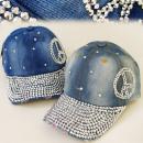wholesale Headgear: FL210 FASHIONABLE  HAT, Basecap JEANS, PEACE SYMBOL