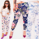 wholesale Sports & Leisure: EM90 Ladies' Sweatpants, Flowers, Plus Size
