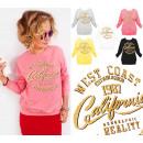 wholesale Pullover & Sweatshirts: A866 Women Sweatshirt, Gold Imprint: West Coast