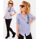wholesale Fashion & Apparel: R26 Lovely Women Shirt With Royal Embroidery