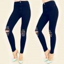 wholesale Trousers: B16553 Pants  Jeans, Tubes, Hole, Brads, GR